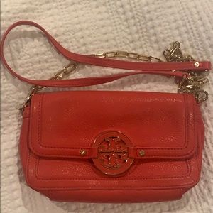 Tory Burch Bright Red Chain Link Crossbody